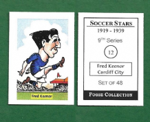 Cardiff City Fred Keenor Wales 12 (FC)